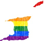 Trinidad And Tobago Rainbow Pride Flag And Map