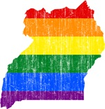 Uganda Rainbow Pride Flag And Map