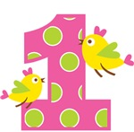 Heart Birds 1st Birthday