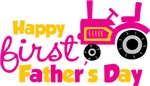 Pink tractor happy 1st fathers day