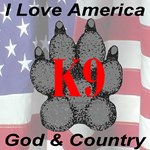 I Love America K9 Paw God & Country