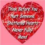 Shattered Heart Bleeding Red