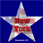Remember 9/11 New York Flag Star