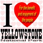 I Love Yellowstone National Park Golden Font