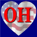 Love OH Flag Heart