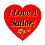 I Love A Sailor Rose Heart