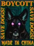 Boycott Made In China K9 Killers Save Dogs! Orange