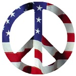 Peace Symbol American Flag