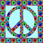 Peace Symbol Blackeyed Susans Skyblue