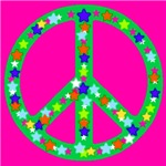 Peace Symbol Stars Ruby