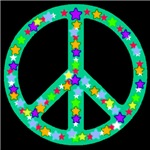 Peace Symbol Jade Stars