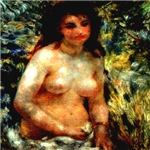 Study of Woman In Sunlight Renoir 1841-1919