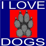 I Love Dogs (Front & Back)