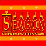 Season Greetings Tristar Ribbon (Front & Back)