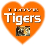 I Love Tigers Bengal Orange