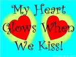 My Heart Glows When We Kiss!