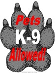 K9 Pets allowed!