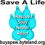Save A Life Buy A Blue Topaz Paw