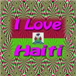 I Love Haiti Tropical Magenta (Front & Back)