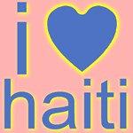 i (heart) haiti  Blue Heart