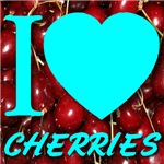I (Heart) Cherries Blue Font for the Guys
