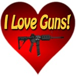 I Love Guns Classic Red Blooded Heart