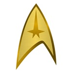 Star trek insignia golden