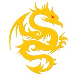 Awesome Golden Dragon