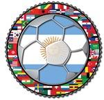 Argentina Flag World Cup Soccer Football Futbol Wo