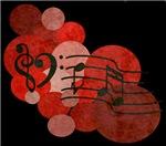 Heart Music Clefs