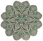 Green and Black Lacey Doily design