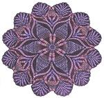 Purple stain glass inspired design