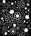 Summery White flower pattern