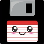 Cute Floppy Disk (Red)