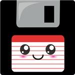 Cute Floppy Disk (Red)