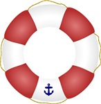 Red and White Life Saver