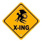 Whether you identify with winged monkeys in general, think they're really cool, love The Wizard of Oz, or just think a winged monkey crossing sign is deliciously surreal, this is the design for you!
