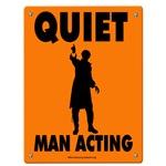 Man Acting Road Sign