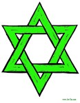  Jewish Green Star of David