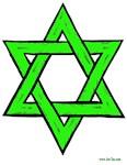 Jewish Green Star of David
