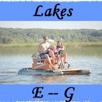 Lakes E -- G