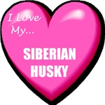 I Love My Siberian Husky T-Shirts