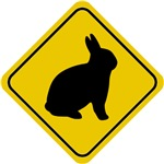Rabbit Crossing Sign T-Shirts