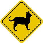 Cat Crossing Sign II