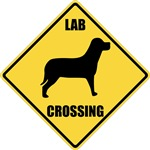 Black Lab T-Shirt - Crossing Sign
