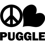 Peace Love Puggle T-Shirts