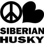 Peace Love Siberian Husky T-Shirt