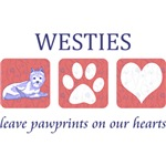Westie Paw Prints T-Shirt