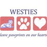 Westie Paw Prints T-Shirt