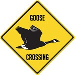 Canada Goose Crossing Sign